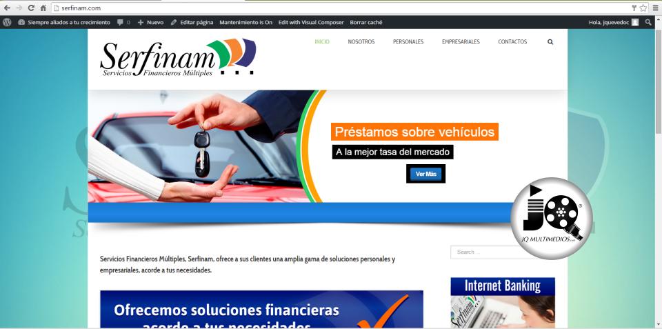 Diseño Web Financiera Serfinam