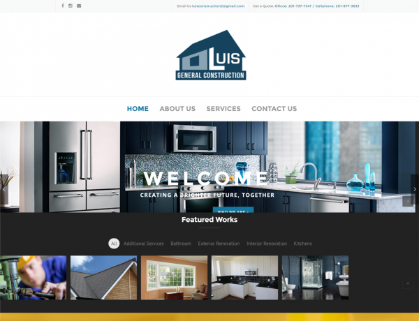 Website corporativo Luis General Constructions